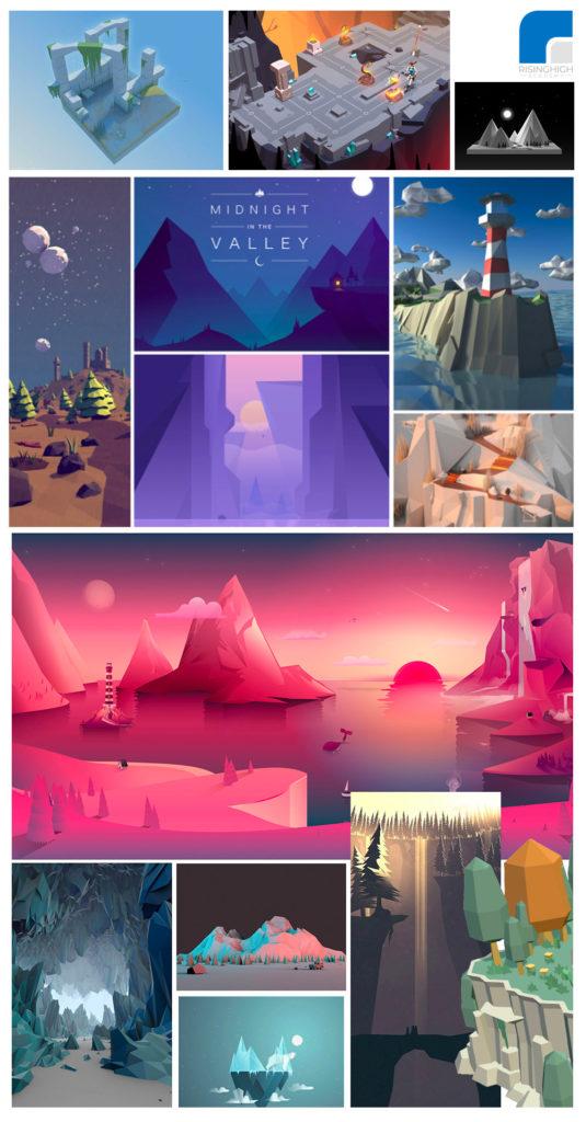 Mood Board Example - Game Development - RisingHighAcademy.com