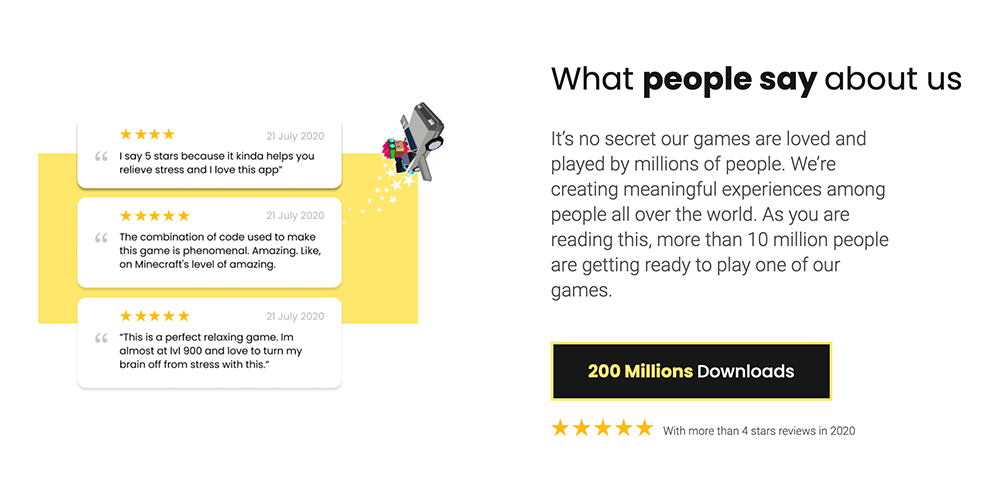 Hyper Casual Publisher - Homa Games - What People Say