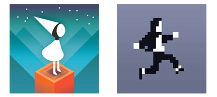 Monument Valley and Canabalt Game Icons