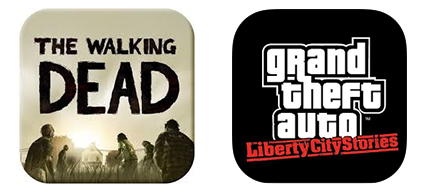 The Walking Dead and GTA Game Icons