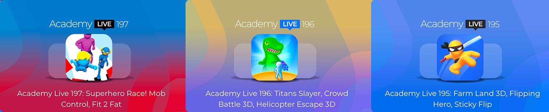 Academy Live - Hyper Casual Game Design Show - 2