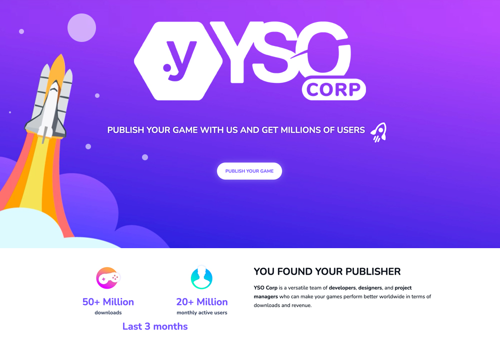 YSO Corp - Hyper Casual Game Development and Publishing