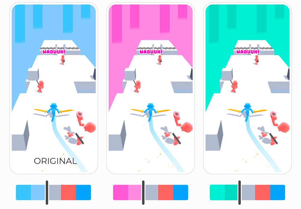 Hyper Casual Game - Color Palette Example - Samurai Flash